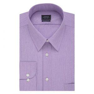 Velcro Adapted Lavender Herringbone L/S Shirt