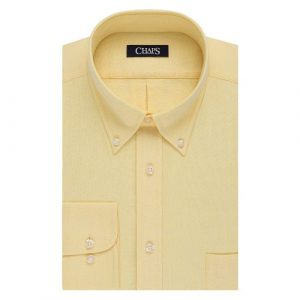 Adapted Long Sleeve Shirt with Button Down Collar