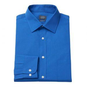 Velcro Adapted Medium Blue Shirt