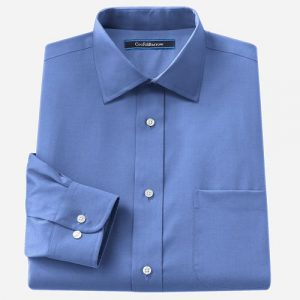 Velcro Adapted Medium Blue L/S Shirt