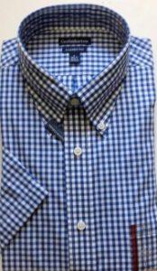 Velcro Adapted Blue Check Short Sleeve Shirt