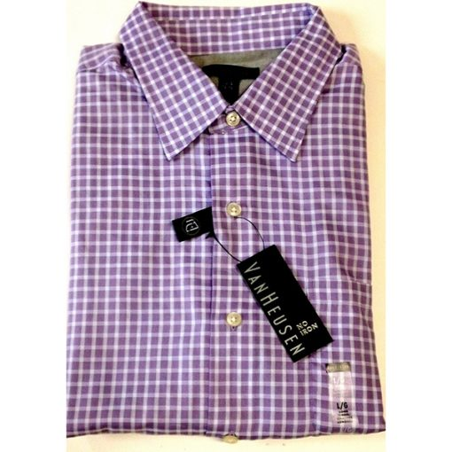 Velcro® Adapted Purple Viola Check Long Sleeve Shirt