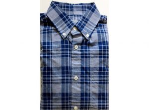 Velcro® Adapted Southern Blue Plaid Long Sleeve Shirt