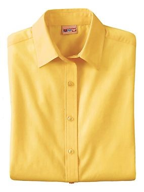 Velcro Adapted Yellow Blouse 3/4 Sleeve