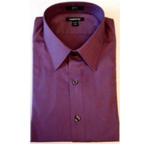 Velcro® Adapted Amethyst Micro Stripe Long Sleeve Shirt