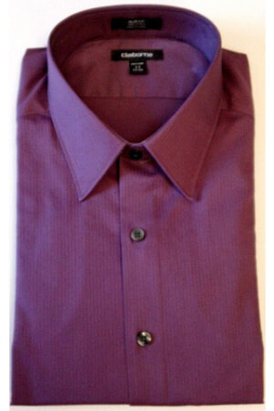 Velcro® Adapted Amethyst Micro Stripe Long Sleeve Shirt