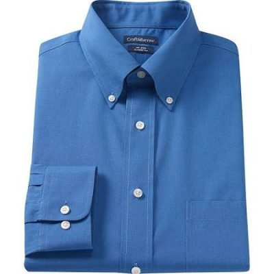 Velcro Adapted Royal Blue Button Down Collar