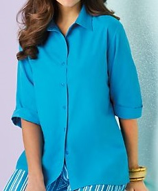 Velcro Adapted Sapphire Blouse 3/4 Sleeve